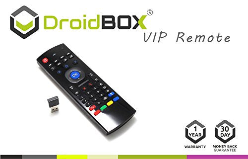 DroidBOX VIP V1 3-in-1 Remote Wireless 2 4Ghz Air-Mouse with QWERTY  Keyboard for Android TV BOX, T8, TX2, TX3, Raspberry Pi, Minix, Fire TV,  NVIDIA