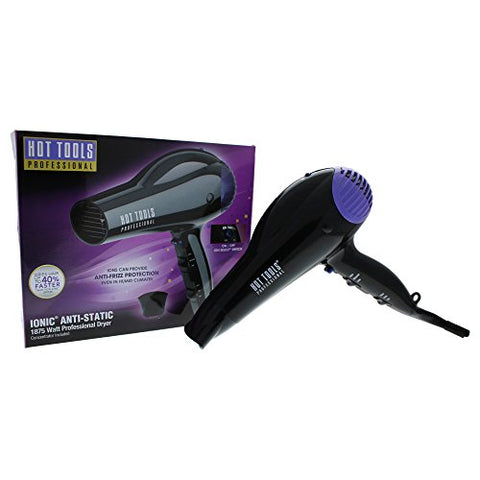 Hot Tools Professional 1035 1875 Watt Direct Ion FastDry Anti-Static Hair Dryer