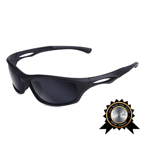 Brigada Polarized Cool Black Sport Sunglasses For Men Driving
