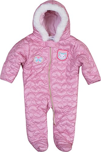3a3fc665b Duck Duck Goose All Brands NYC Baby Girls Quilted Nylon Pram Snowsuit, Pink  Cat,