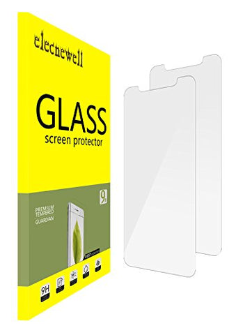 [2 Pack] IPhone X Screen Protector, NEWELL Tempered Glass Protector [Case Friendly] [Eye Protection] Anti- Scratch HD Clear Bubble-Free Film for for Apple iPhone X 2017