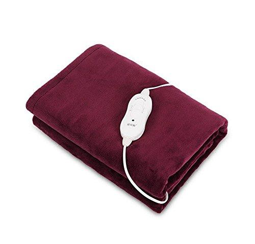 WE&ZHE Multi-Functional Electric Blanket Warmer Heating Pad, 3 Files Thermostat 15-50 Degrees Knee Pads Care Knee Blanket , Dark purple