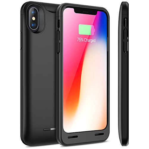 reputable site 267d1 7325f iPhone X Battery Case with Qi Wireless Charging, Snowpink 4200mAh Slim  Portable Charger Case Rechargeable Extended Battery Pack Apple Certified ...