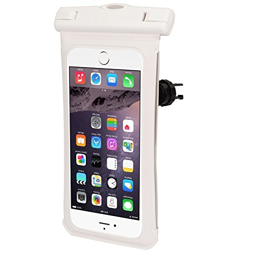 uk availability d1ab8 873c5 Universal Cellphone Waterproof Case Bike Mount Holder Cellphone Waterproof  Pouch for 4.7-5.2
