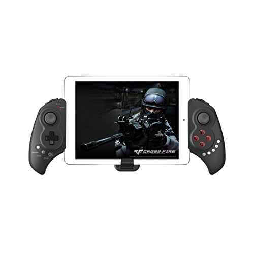 ALLCACA Bluetooth Game Controller Telescopic Wireless Gamepads Durable Game Controllers, Compatible with Android/IOS System, Suitable for Smartphone and Tablet, Black