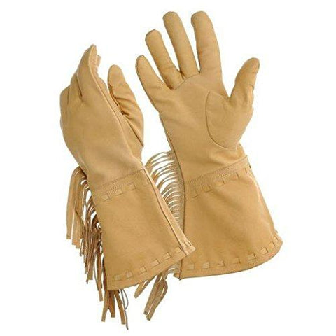 Tough 1 Riding Gloves Womens Buck-A-Roo Work Fringe Cowhide 24-100