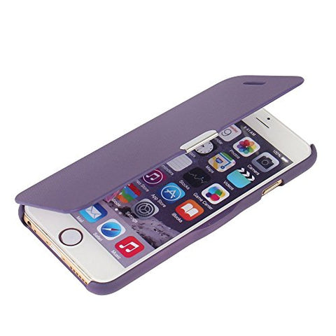 iPhone 6s Plus case, iPhone 6 Plus case, MTRONX™ Magnetic Ultra Folio Flip Slim Leather Twill Case Cover Pouch for Apple iPhone 6 Plus iPhone 6s Plus - Purple(MG-PP)