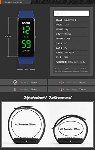 4f52f63a7 Men Women Sports Watches Girls Simple Design LED Watch Ladies Digital  Wristwatches 30M Water Resistant (