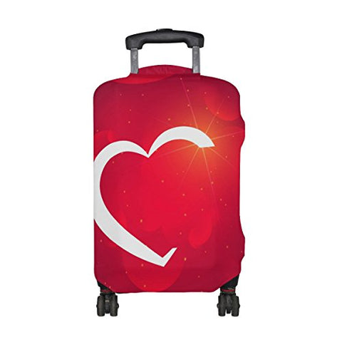 DEYYA Romantic Fantasy Red Love Spandex Travel Luggage Cover Baggage Suitcase Protector Fits 18-32 Inch