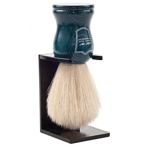 Parker Safety Razor Handmade 100% Deluxe Boar Bristle Shaving Brush - - Blue Wood Handle -- Brush Stand Included