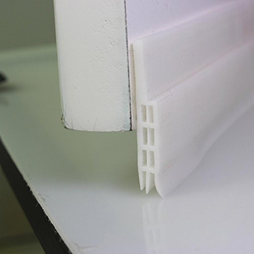 Draft Stopper,Door Seal Strip,SMYTShop Under Door Sweep Weather Stripping  Seal Draft Stopper