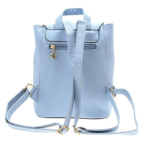 a1ed487024 ZYUPUP Women Leather Backpacks Casual Schoolbags Travel Shoulder Bag Daypack  (one size