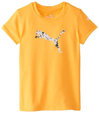PUMA Girls' Short Sleeve Core Tee Shirt