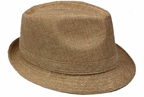 Unisex Men Women Fedora Hat Trilby Cuban Style Upturn 1-5/8