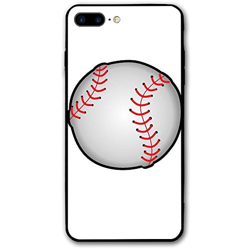 the latest 36243 a91cb Baseball Sports Premium Lightweight Apple IPhone 8 Plus Case Shock  Absorption Anti-fingerprint Soft PC Full Protective Cover 5.5 Inches(Black)