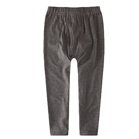 KISBINI Boy's Cotton Long Johns Thermal Pants Bottoms For children Dark Grey 4T