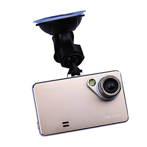 "Malloom 2.4"" Full HD 1080P Car Black Box Car DVR Dash Cam with G-sensor, Night vision, Motion Detection, Built in Speaker / Microphone Gold"