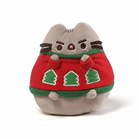 Pusheen Holiday Set with Wreath Plush, with Sweater Plush, and Meowy Christmas Ornament