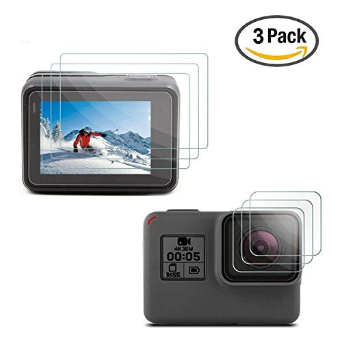 [3pcs] Deyard LCD Display Screen Protector & Lens Protector Film for GoPro Hero (2018) Hero 6 Hero 5 Black Action Camera