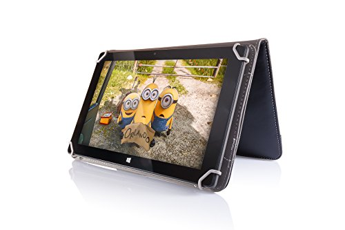 10 1'' Standable Black Leather Look Case with Strap Ideal for Fusion5 Xtra  v1, Xitra v3, Xtra Compact and Xtra 4CORE Android Tablets - Fusion5 6