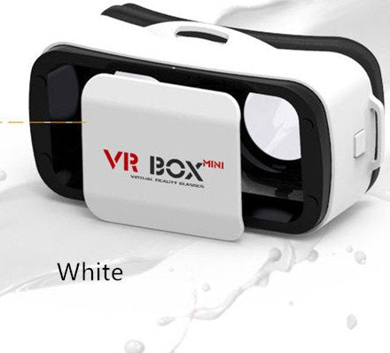 VRBOX Mini Virtual Reality Headset 3D Video Movie Game Glasses For IOS Android Smartphones (White)