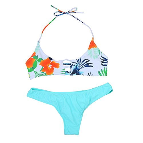 6fbce7a6f1 Nation Ladies Bandage Bikini Set Push-up Padded Brazilian Bathing Swimsuit  (S