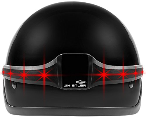Whistler WHL-40 MotoGlo Wireless Motorcycle Helmet LED Brake and Turn Signal Indicator Safety Light, Half Helmet