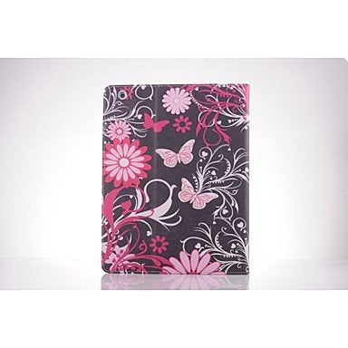 Tablet Cases Pink Butterfly PU Leather Full Body TPU Case with Card Holder for Ipad 2/Ipad 3/Ipad 4 (Color : Red)