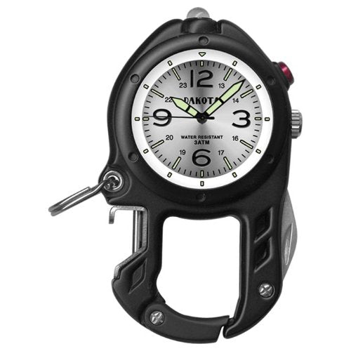 Dakota Bottle Opener/ Flashlight Clip Watch - Black