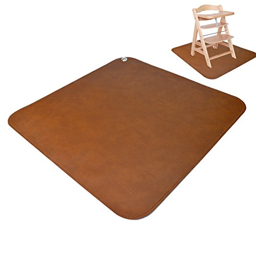 Leather Baby Splat Mat For Under High Chair Floor Protector
