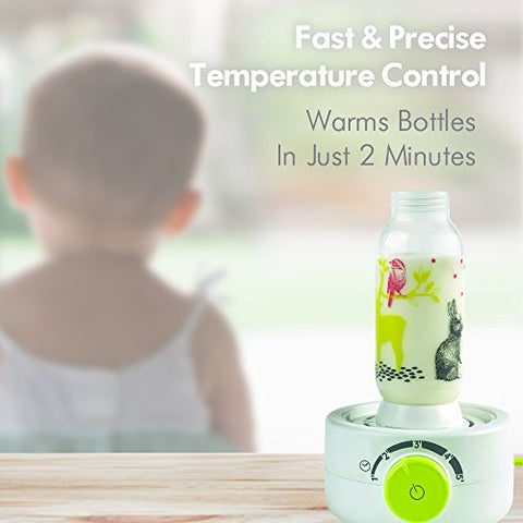BEABA Quick Baby Bottle Warmer, Steam Sterilizer, Baby Food Heater (3-in-1) Warm Milk in Just Two Minutes, BPA and Lead Free, Simple Temperature Control, Fits All Bottle Sizes - Even Wide Neck, Clouds