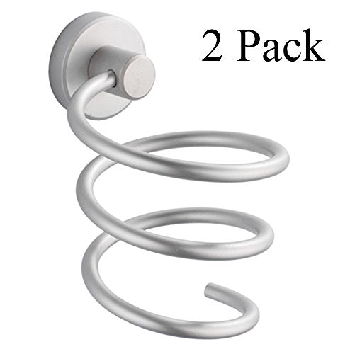 MelonBoat Hair Blow Dryer Holder, Wall Mount Spiral Blower Stand 2 Pack