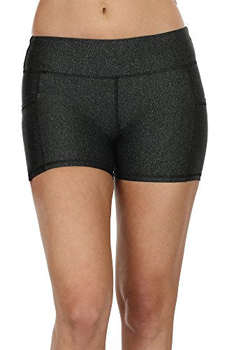 icyzone Workout Running Shorts for Women - Yoga Exercise Athletic Shorts Capris