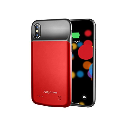 newest f85f8 804aa Anjoron iPhone X Battery Case Slim 3200mAh Portable Power Bank Rechargeable  Charger Case for iPhone X 5.8