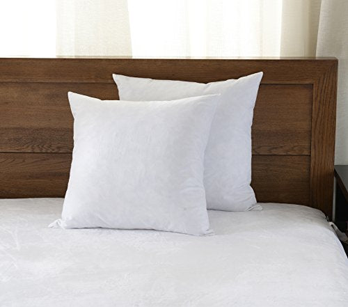 Downluxe Decorative Feather Pillow Inserts Set Of 40 400x400 Square Simple 100 Down Pillow Inserts