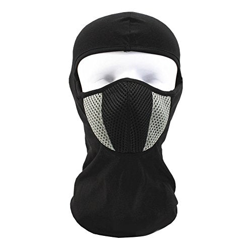 wintefei Outdoors Motorcycle Helmet Hood Ski Sport Neck Windproof Dustproof Face Mask - Grey