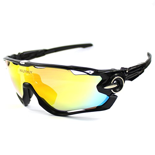 1eee1aa2e3 Polarized Cycling glasses for Men UV400 Protection Sports Sunglasses With 3  Interchangeable Lenses for Cycling