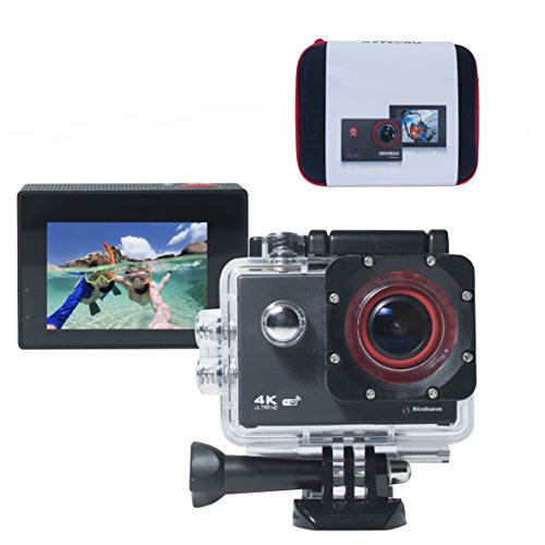 [Bonus Case] Simbans Okomax 4K Sports Action Video Camera + 11 Accessories - Waterproof Ultra HD WiFi 12MP 170° Wide-Angle- Best gift Cam for Kids, Teenagers (Boys, Girls Age 10-18 years old)