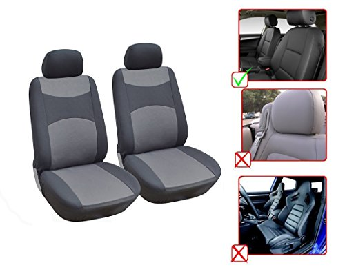 Fabric 2 Front Car Seat Covers Compatible To Mercedes Benz C Class