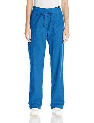 d2531fe480c Koi Women's Morgan Ultra Comfy Yoga-Style Cargo Scrub Pants with Rib-Knit  Waist
