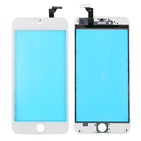 Screen Touch Panel with Frame Assembly for iPhone 6,Front Lens Glass Replacement Repair Tools Kit for For iPhone 6(White)