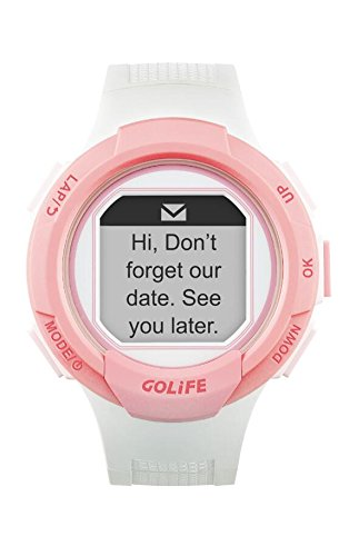 GOLiFE Fashion Thin GPS Smart sport Watch for Women and Men Runner with  Heart Rate Motor Chronograph Stopwatch Alarm Clocks SMS App Notice (Pink)