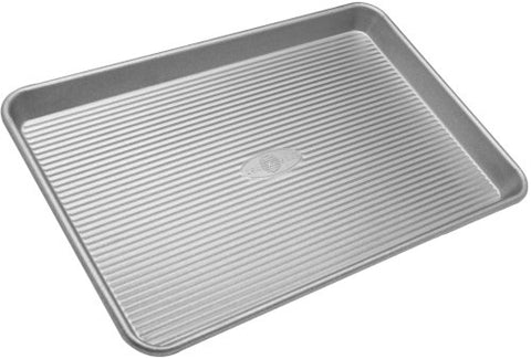 USA Pan Bakeware Half Sheet Pan, Warp Resistant Nonstick Baking Pan, Made in the USA from Aluminized Steel