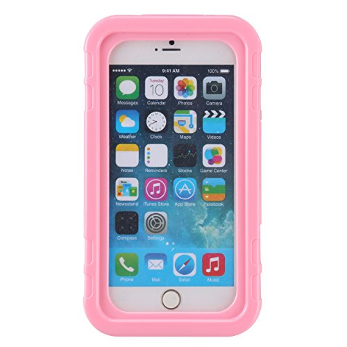 Universal Hard Shell Full Body Protect Waterproof Case for Apple iPhone 6S  7 8 Plus / Nokia 6 / Xiaomi Mi Note 2 (Pink)