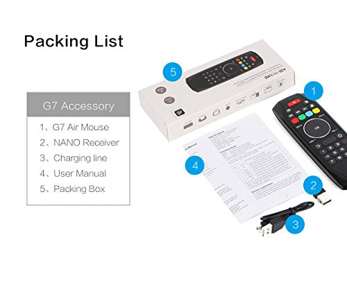 Air Mouse Remote, PTVDISPLAY 2 4G IR Learning Mouse Remote Control with  Keyboard for Android TV Box Smart Projector MAC Pad HTPC IOS PC Windows
