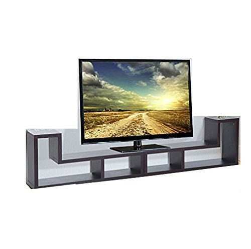 Modern Console Table TV Stand Variety Of Display Ways Home Entertainment  Brown With Ebook