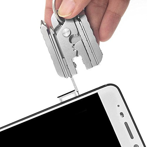 Phone Multitool 15-in-1 With Sim Card Removal Tool Pin Ejector, Pocket  Knife, Keychain Pliers,Screwdriver,Pliers Stainless Steel Pocket Multi Tool