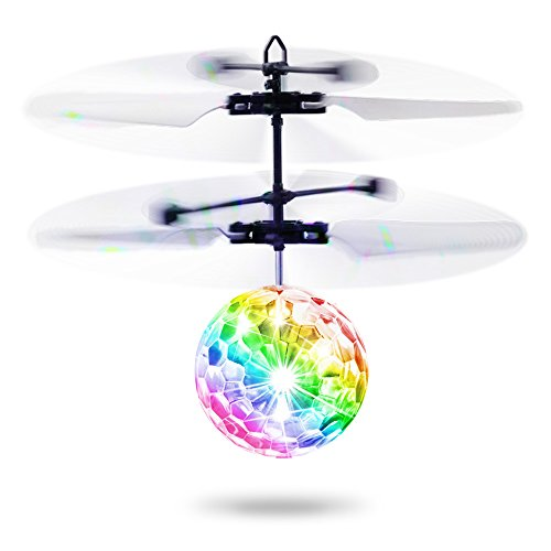 Flying Ball Kids Toys,Baztoy RC Toy Infrared Induction Helicopter Drone Ball with Built-in Flashing LED Light for Boys Girls Teenagers Toys Indoor and Outdoor Games