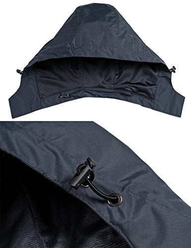 LOHASCASA Men's Outdoor Hiking Softshell Lightweight Waterproof Hooded Windbreaker Rain Jacket