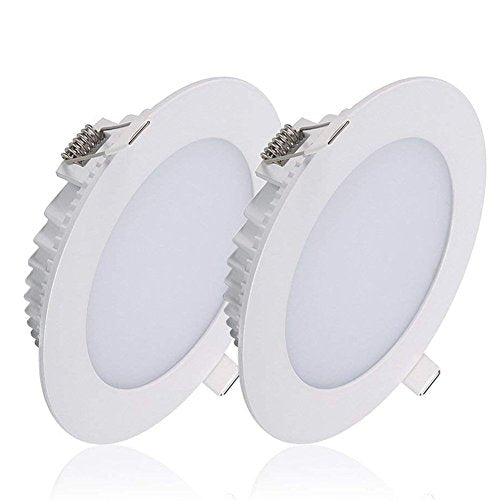 B-right Pack of 2 Units 12W 5-inch Dimmable LED Panel Light, 1000lm 5000K Cool White Ceiling Light Fixture, Bottom Glow Super Bright